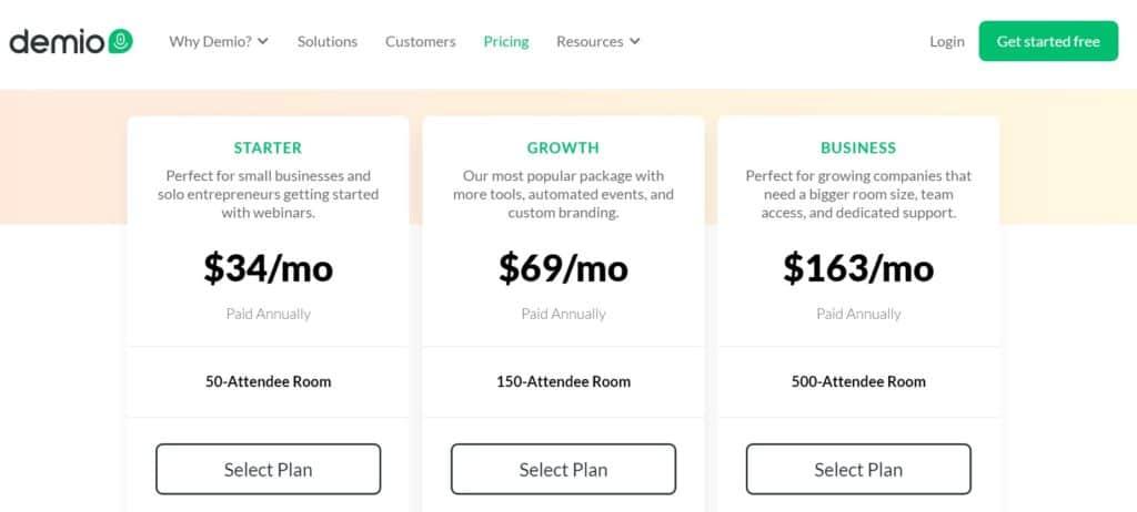Demio webinar Review - Demio Pricing 2020 Complete Guide